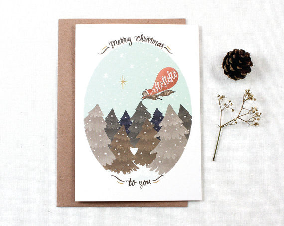 Christmas Greeting Card - Merry Christmas Hohoho
