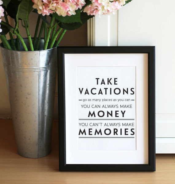Take Vacations Notecard Print