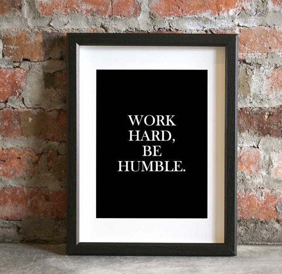Work Hard Be Humble Notecard Print