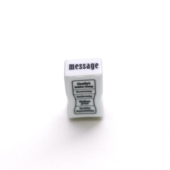 Classiky Porcelain Message Stamp