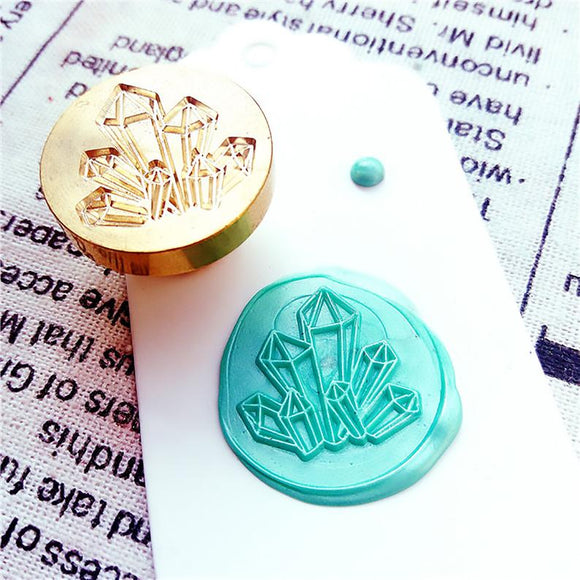 Wooden Wax Seal | Crystal
