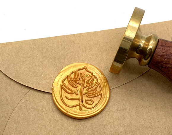 Wooden Wax Seal | Monstera