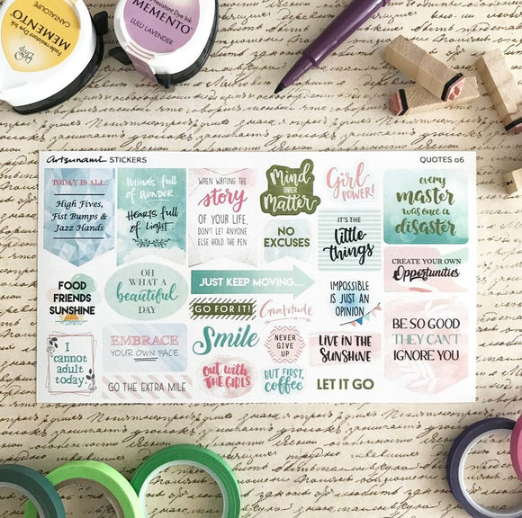 Artsunami Planner Stickers // Quotes 06