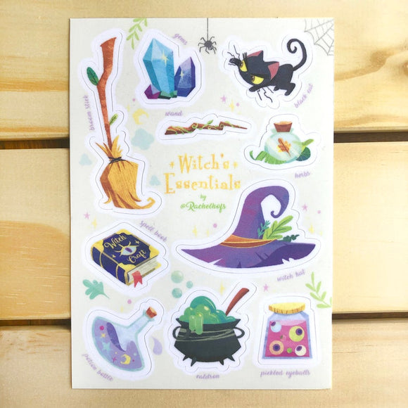 Rachelhofs Witch's Essentials Sticker Sheet