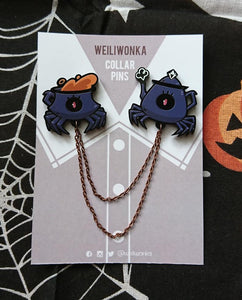 Wei Li Wonka - Spider Tea Set Collar Pin