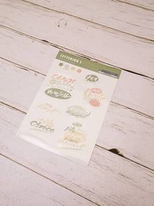 Ink Diary Sticker Sheet | Lettering