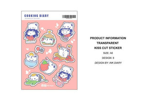 Ink Diary Sticker Sheet | Cooking