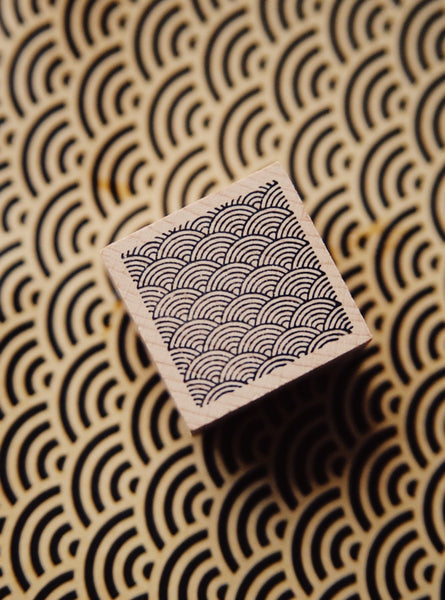 Wave Square Rubber Stamp