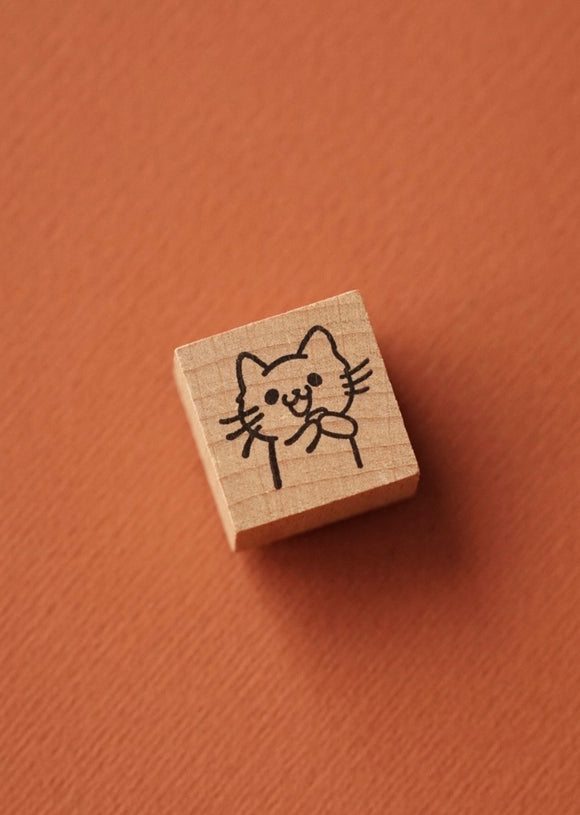 Gifting Cat Rubber Stamp
