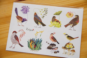 Watercolor Birds Sticker II