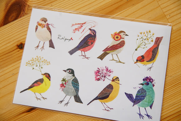 Watercolor Birds Sticker I