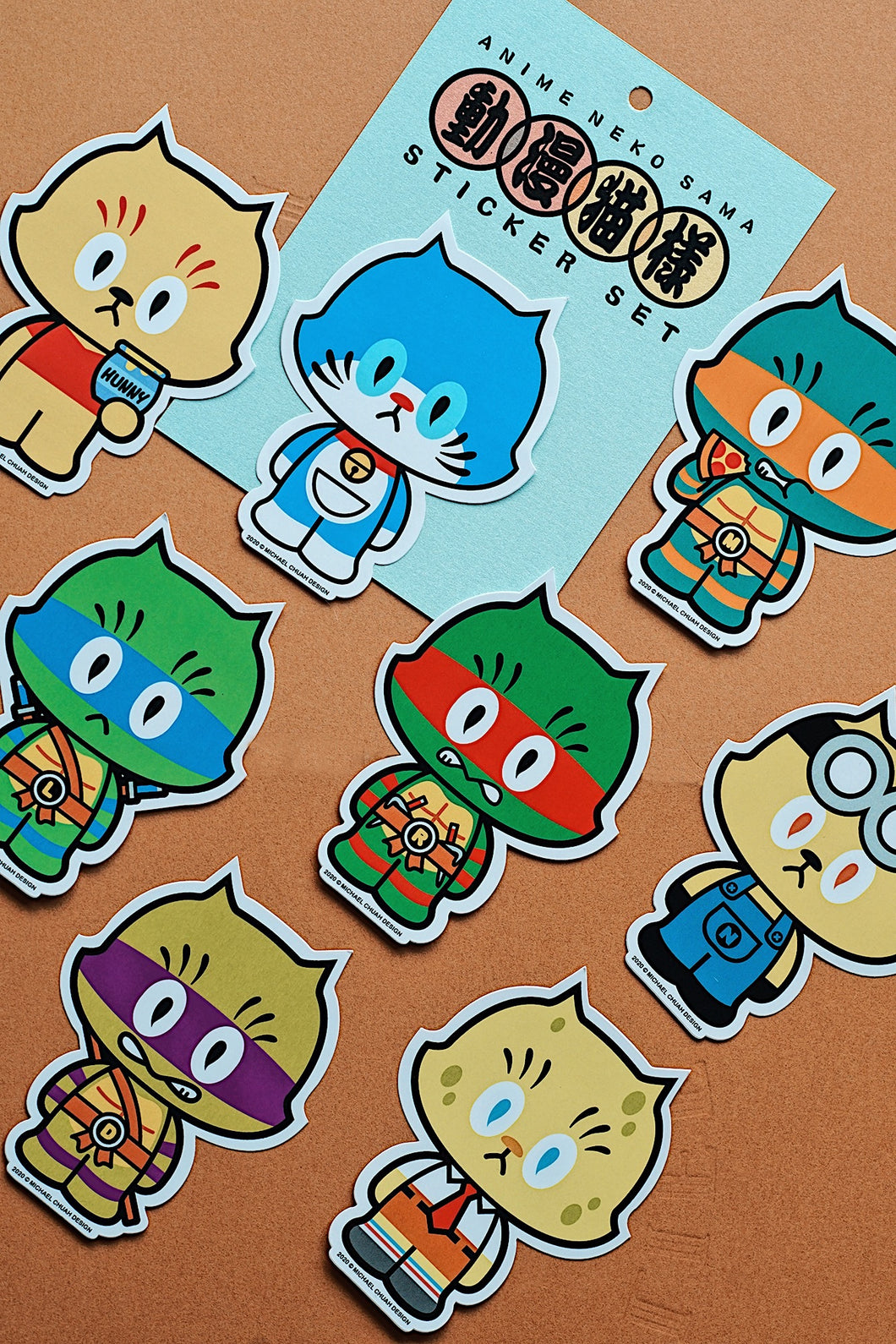 Michael Chuah - Anime Neko Sama Sticker Set