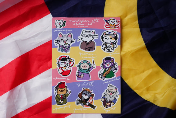 Meowlaysian Cat Stickers