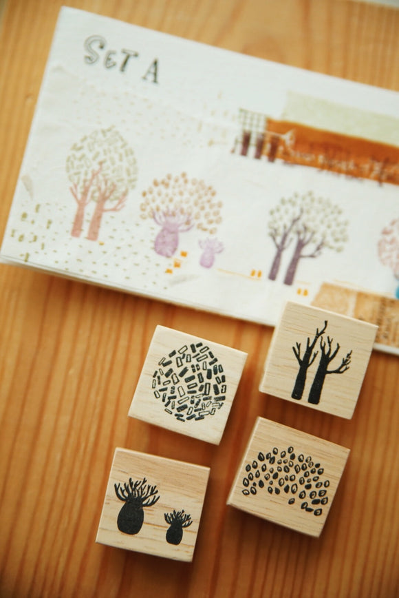 Nove Secret Forest Series Rubber Stamps / Set A