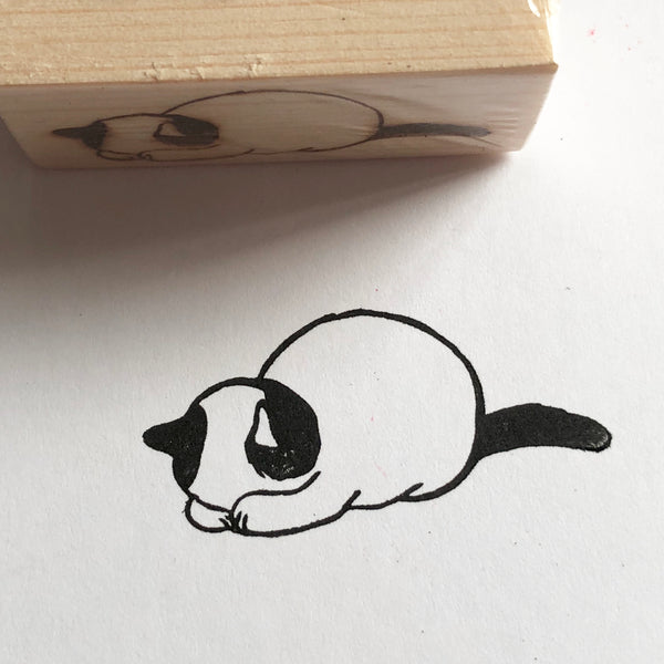 Gomenasai (Sorry) Cat Rubber Stamp