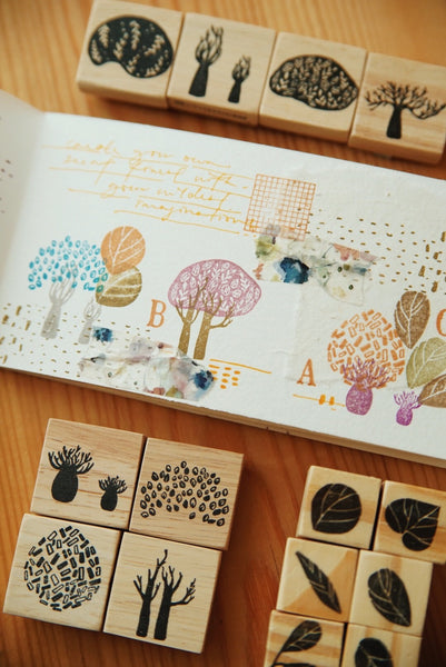 Nove Secret Forest Series Rubber Stamps / Set C