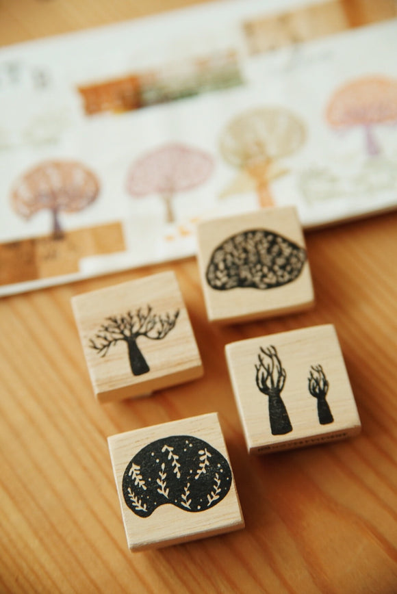 Nove Secret Forest Series Rubber Stamps / Set B