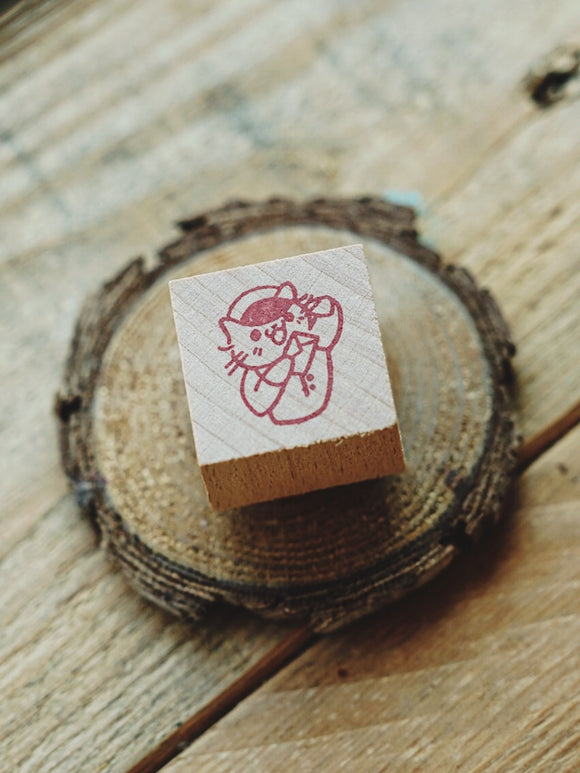 Post Cat Rubber Stamp