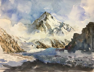K2 Mountain (Savage Mountain) Postcard by Brian Tai