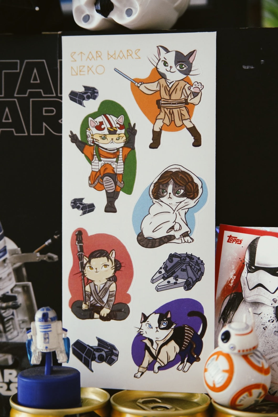 Star Wars Neko Stickers