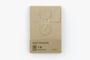 KRAFT ENVELOPE with String (S) Brown  - Stickerrific