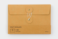 Load image into Gallery viewer, KRAFT ENVELOPE with String (M) // Orange