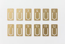 Load image into Gallery viewer, Traveler's Company Brass Number Clips  - Stickerrific