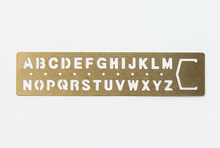 Load image into Gallery viewer, Traveler's Company Brass Template Alphabet