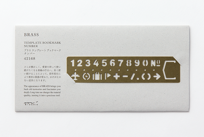 Traveler's Company Brass Template Number  - Stickerrific