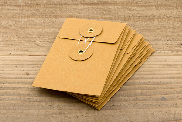 KRAFT ENVELOPE with String (S) // Orange