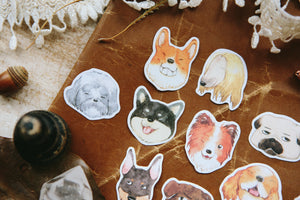 OURS Flake Sticker // Dogs Party