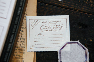 OURS Vintage Postcard Letterpress Label Book