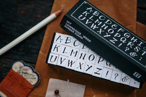 OURS DIY Rubber Stamp Set // A to Z (Uppercase)
