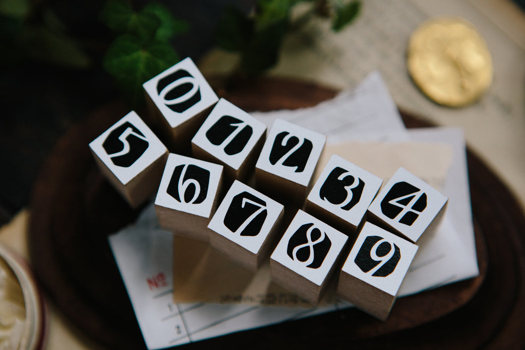 OURS DIY Rubber Stamp Set // Number