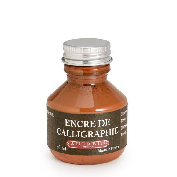 J Herbin Encre De Calligraphie Brown / 50ml
