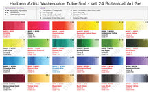 Load image into Gallery viewer, Holbein Artist's Botanical Watercolors in 5ml Tube (24)