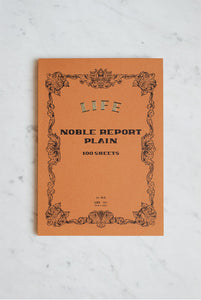 LIFE Noble A4 Report Notepad // Plain