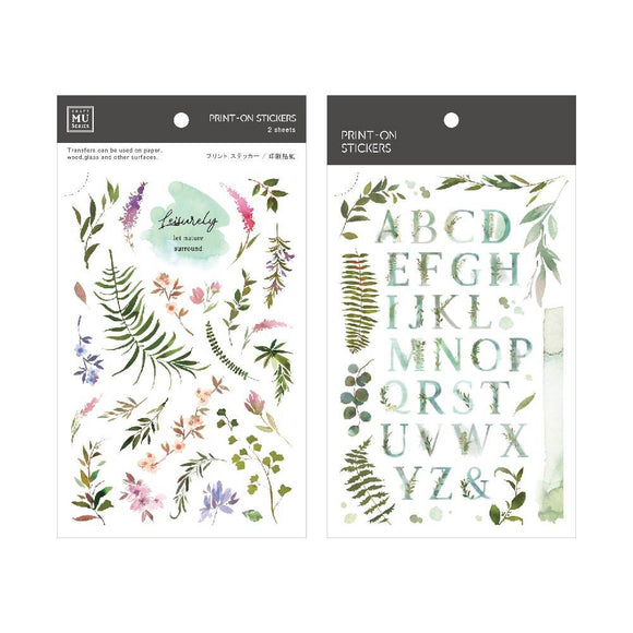 [NEW] Mu Craft Print-On Sticker // ABC Ferns