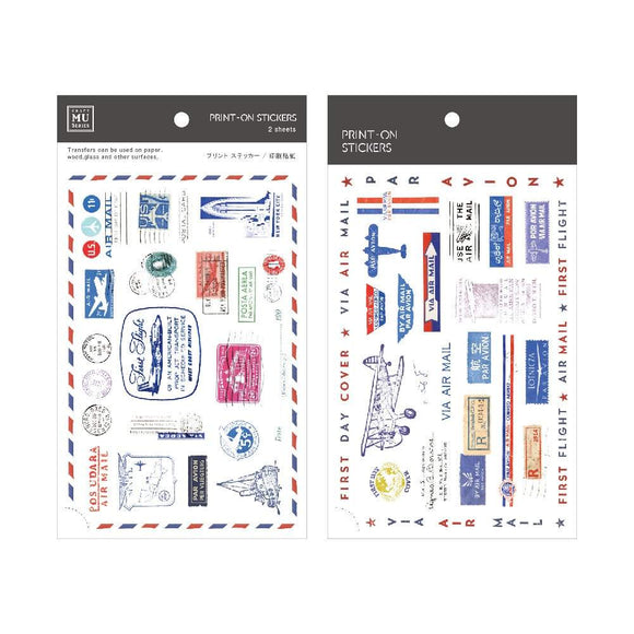 [NEW] Mu Craft Print-On Sticker // Air Mail