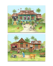 Load image into Gallery viewer, Pop Up Postcard :A Tale Of Kampung House
