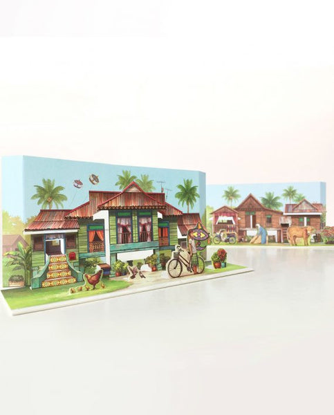 Pop Up Postcard :A Tale Of Kampung House