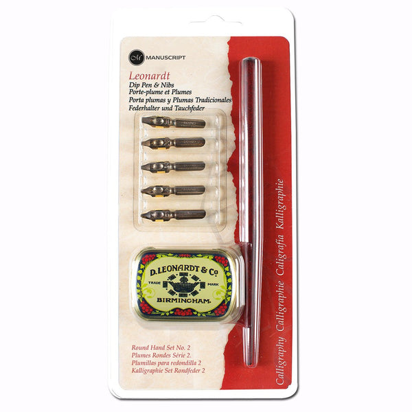 Manuscript Pen Leonard Round Hand Set No.2