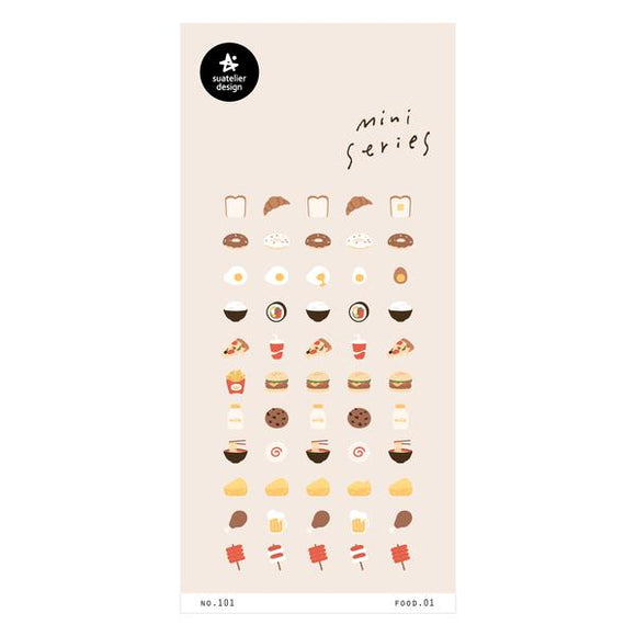 Suatelier Food.01 Sticker Sheet
