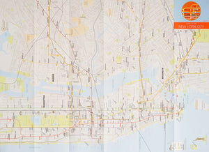 Zeroperzero Folding Railway City Map New York City