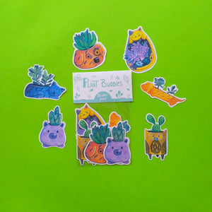 Hsieying Plant Buddies | Succulents Sticker Pack