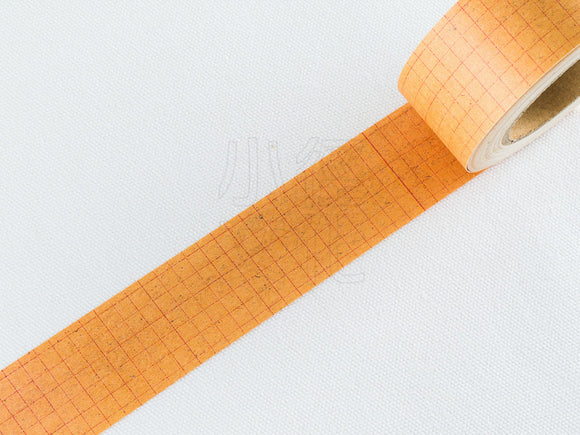 Classiky 30mm Kraft Paper Tape / Red Grid