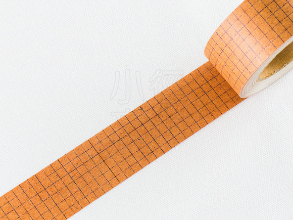 Classiky 30mm Kraft Paper Tape / Black Grid