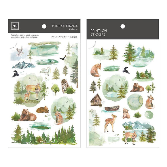 [NEW] Mu Craft Print-On Sticker // Forest
