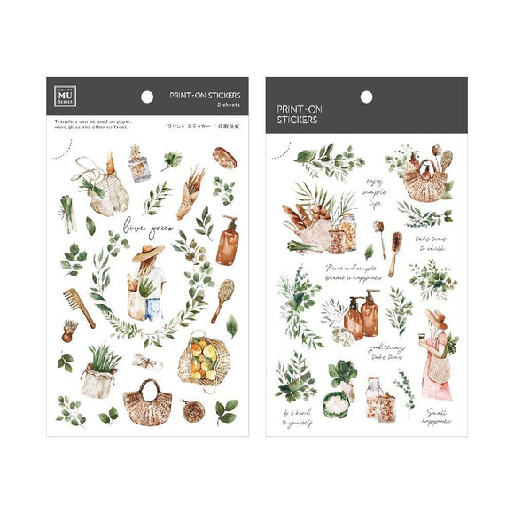 [NEW] Mu Craft Print-On Sticker // Gardening