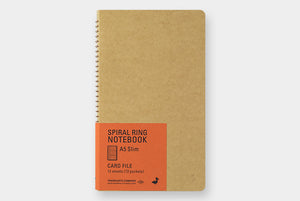 Spiral Ring Notebook (A5 Slim) Card File